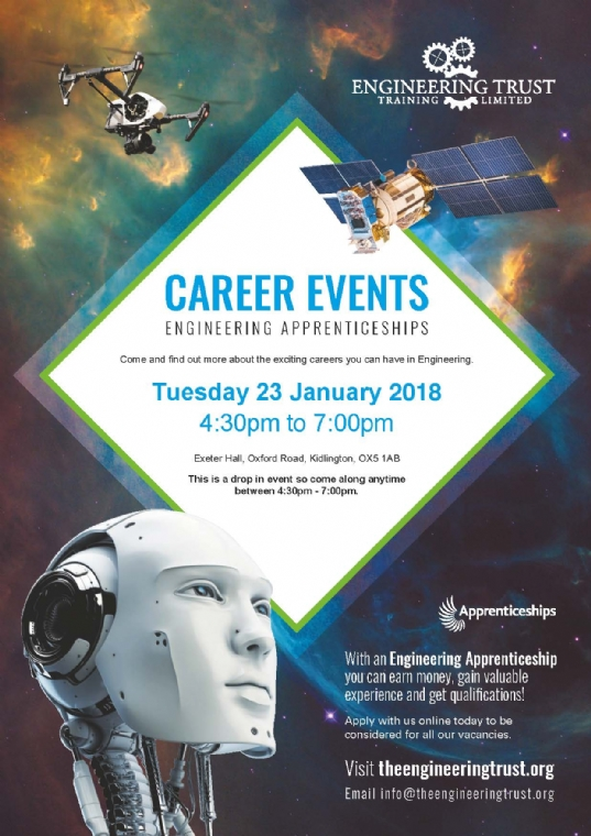 Engineering Apprenticeship event in Oxfordshire