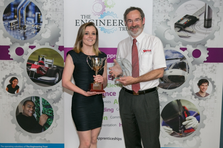 Becky Smith with Neill Brodey, Trustee Award Winner